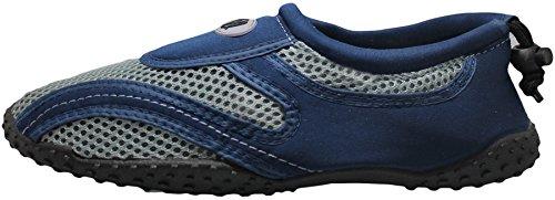 Greg Michaels Heren Waterschoenen Aqua Sokken - Hoge Duurzaamheid, Comfortabel Om Te Dragen In Water En Op Oppervlakte Blauw / Grijs