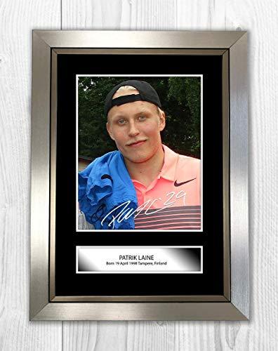 Engravia Digital Patrick Laine - Winnipeg Jets NHL Reproduction Signature Photo A4 Print(Silver Frame) - Winnipeg Jets Signed