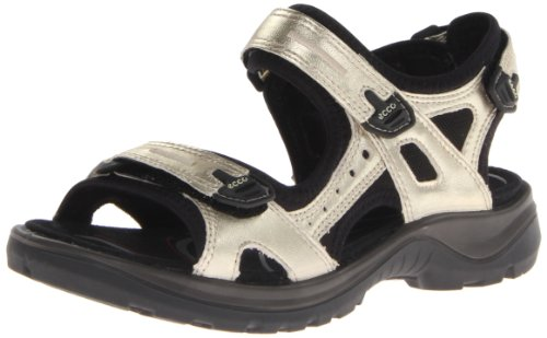 ECCO Women's Yucatan Sandal, Light Gold, 38 EU / 7-7.5 M US - Light Gold Sandals