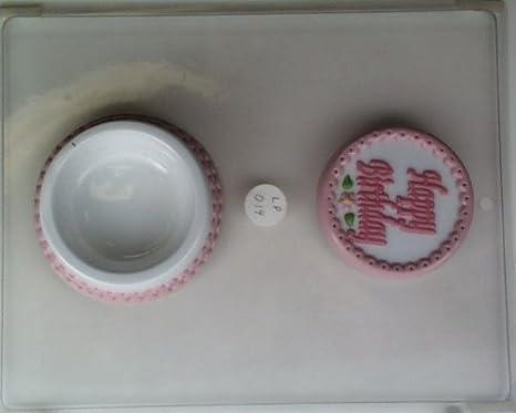 HAPPY BIRTHDAY BAR CLEAR PLASTIC CHOCOLATE CANDY MOLD LP003