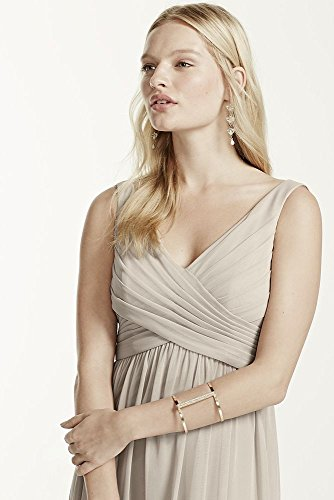 Short Mesh Cowl Back Bridesmaid Dress