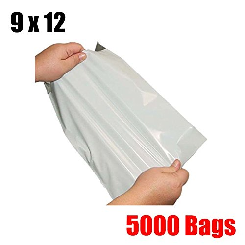 iMBAPrice 5000 9'' x 12'' WHITE POLY MAILERS ENVELOPES BAGS (Total 5000 Bags) by iMBAPrice