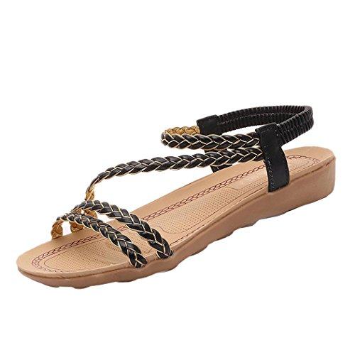 Summer Sandals Inkach Women Summer Weave Sandals Home Sandals Beach Flat Shoes