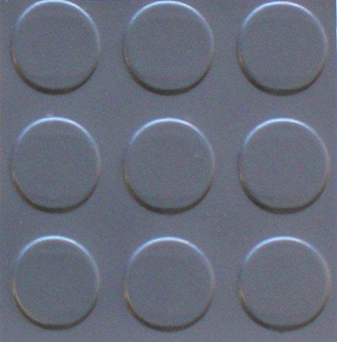 American Floor Mats Coin Pattern Slate Grey Commercial Grade - 75 Mil - 7.5' x 17' Garage Flooring Rolls ()