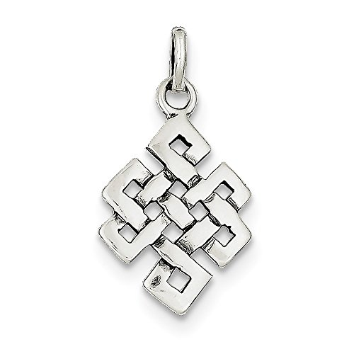 Diamond2Deal 925 Sterling Silver Antiqued Square Celtic Knot Pendant by Diamond2Deal