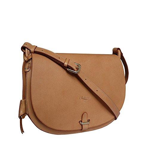 - Boldrini Eva Italian Leather Cross Body Large Saddle Style Bag (tan)