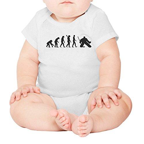 lsawdas Evolution Hockey Goalie Unisex Baby Cotton Short Sleeve Toddler Clothes Baby Onesies -