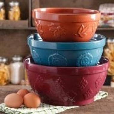 The Pioneer Woman Cornucopia Mixing Bowl Set, 3 pc