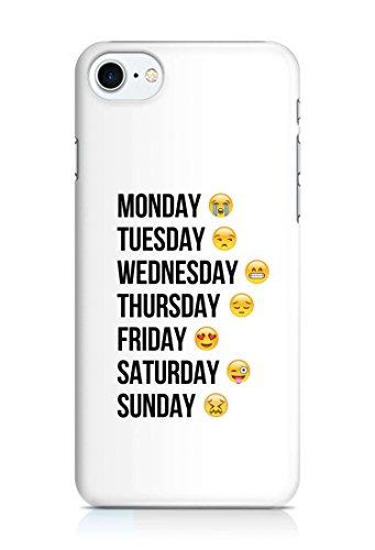 Cover Emoji Smiley Weiss Handy Hülle Case 3D-Druck Top-Qualität kratzfest Apple iPhone 7