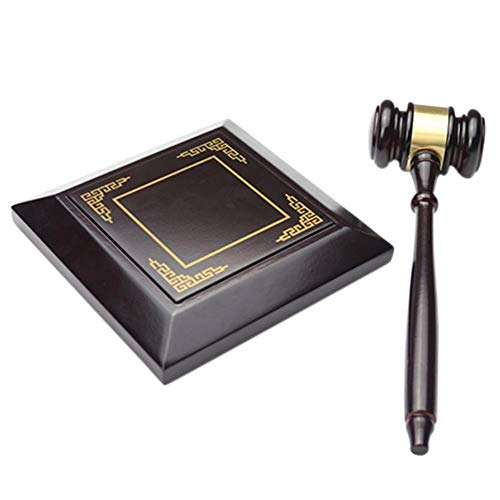 mikolot Handmade Wood Auction Hammer for Lawyer Judge Handcrafted Law Court Sale Gavel