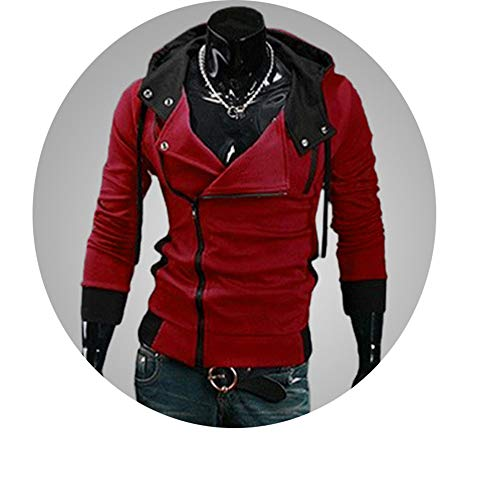 ved Slim Fit Male Zipper Hoodies Assassins Creed Jacket Plus Size M-6XL ()