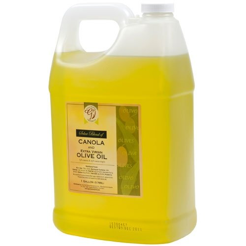75% Canola, 25% Extra Virgin Olive Oil Blend - 1 plastic jug - 1 Gallon by Gourmet Imports