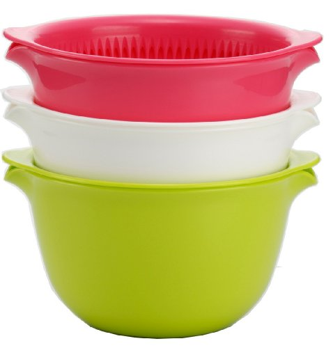 Inomata 6 Piece Colander Mixing 3 Color product image