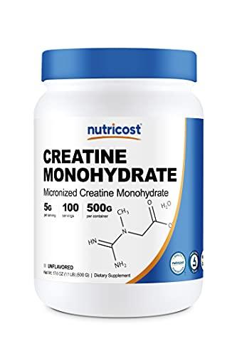 Nutricost Creatine Monohydrate Micronized Powder 500G, 5000mg Per Serv – Pure Micronized Creatine Monohydrate