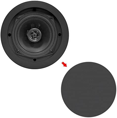 4 NEW Pyle PDIC81RDBK 250W 8 Inch Flush In-Wall In-Ceiling Black Speakers Four