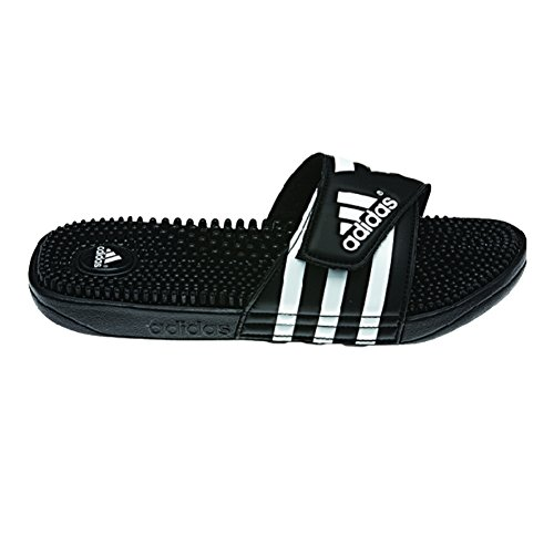 Adidas Adissage Sandalias para hombre, color blanco, grafito y blanco, 10 m, Negro/negro/blanco, 13 M US