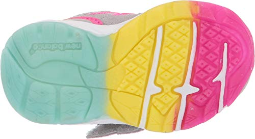 New Balance Girls' 888v2 Hook and Loop Running Shoe Grey/Rainbow 2 M US Infant by New Balance (Image #2)
