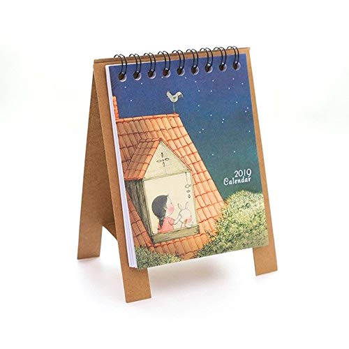2019 Cute Cartoon Desktop Paper Calendar Multi-function Timetable Plan Notebook Office & School Supplies Calendars, Planners & Cards