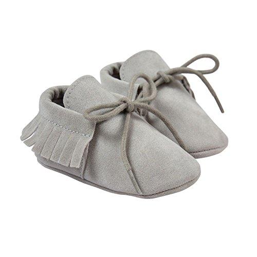 Bebe Souple Pas Gris Premiers Chaussures Garcons 6 Cuir En Filles Clair 18mois 12 6 Pour 0 12 Chaussons Bobora S5nfw