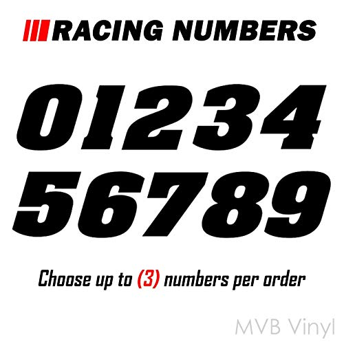 Racing Numbers Vinyl Decal Sticker 0200 - Plate Numbers Style 1