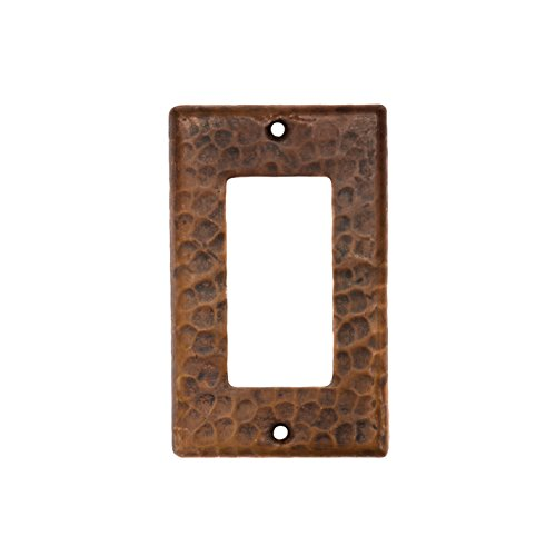 Premier Copper Products SR1 Copper Single Ground Fault/Rocker GFI Switch Plate Cover, Oil Rubbed Bronze by Premier Copper Products