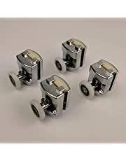Haoweiwei HWW-wielen, legering Bearing Hardware Sliding Douche Glas Deur Roller Runner Katrollen Diameter 23mm/25mm Douche Deur Accessoires. (Kleur: 4 stks enkele bovenste, Maat: 23mm)