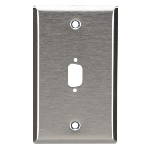 Db9 Wall Plate - BLACK BOX WP070 Wall plate, Stainless Steel, DB9, Single Width, 1 Punch