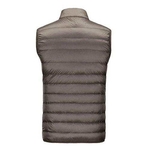 ligero cuello breve abrigo Chaquetas macho la 06 recta párrafo down de cremallera caliente chaleco mantener ARRnwptqH