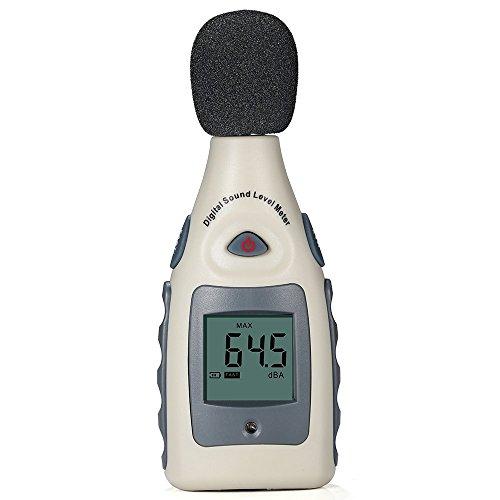 GrandBeing® LCD Tragbar Digital Sound Level Meter Schallpegelmesser 30dBA~130dBA mit eine 9V batterie