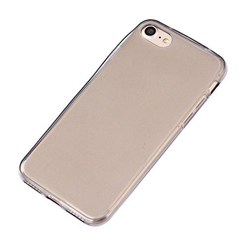 MagiDeal Rückseite + Frontseiten UltraSlim transparente Cover Premium Schutzhülle Case Hülle Für IPhone 7 Plus hellgrau