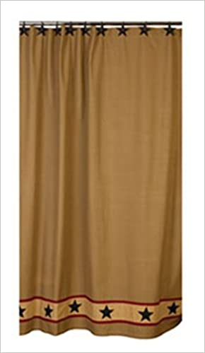 The Country House Collection Khaki Barn Star Shower Curtain 0848269026801 Amazon Books