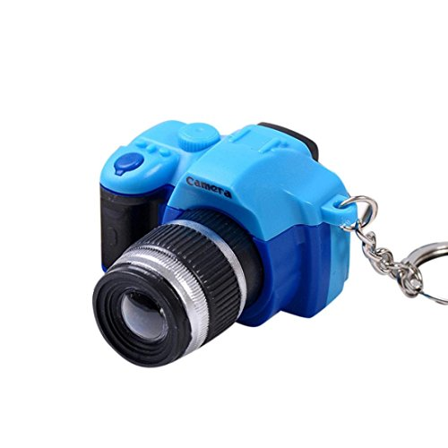 Lanhui Newly Cute Mini Toy Camera Charm Keychain With Flash Light&Sound Gift (Blue)