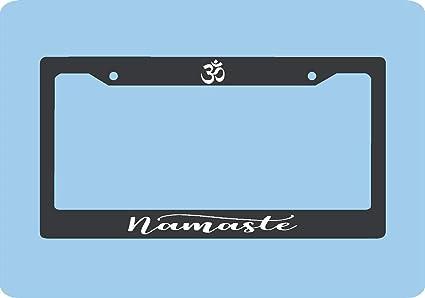Namaste - Marco para placa de licencia de yoga, marco para ...