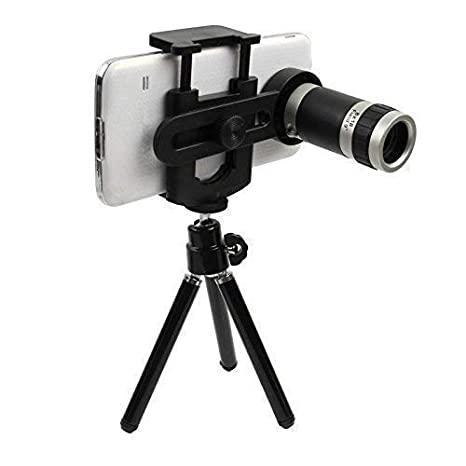 MAKECELL 12x Universal Optical Zoom Mobile Telescope Lens kit for All Smartphone Camera with Tripod Kit
