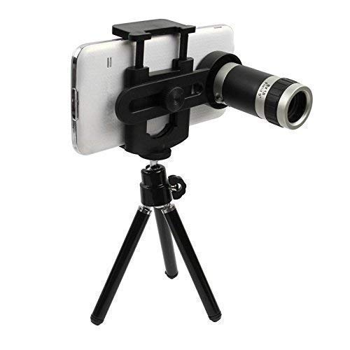 MAKECELL 12x Zoom Mobile Telescope Lens kit for All Mobile Camera with Tripod | DSLR Blur Background Effect [ Android & iOS Devices ]
