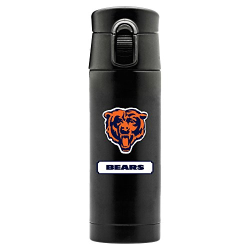 Duck House NFL Chicago Bears 16oz Double Wall Stainless Steel Thermos, Matte Black ()