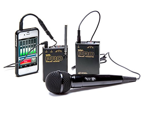 Azden WMS-PRO+i VHF Wireless Microphone System for Smartphones & Tablets (Receiver Azden Handheld)