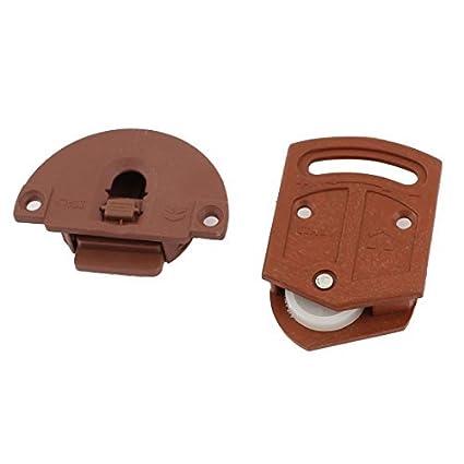 Amazon.com : Armario de puertas correderas Pieza compactador 3, 6 mm Diámetro de plástico Placa Paquete : Office Products