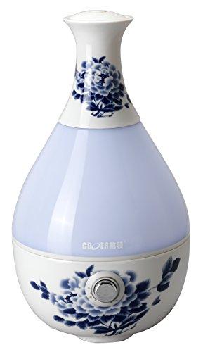 FixtureDisplays Large Capacity Ultrasonic Ceramic Humidifier Aroma Diffuser Decorative Vase Shape 12036 12036 by FixtureDisplays