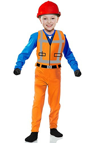 [Mememall Fashion The Builder Toy Construction Worker Toddler Costume] (Girl Construction Worker Costumes)