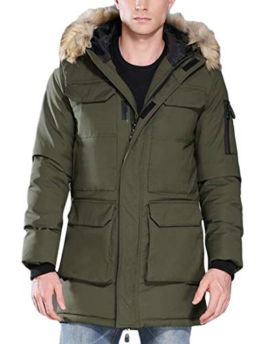 Parka security Coats Hooded Fur 1 Winter Warm Down Quilted Padded Jacket Puffer Thick Men's rAxA7R