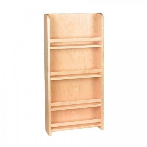 (Century Components SRAS15PF Wood Door Mount Kitchen Spice Rack Organizer, 15