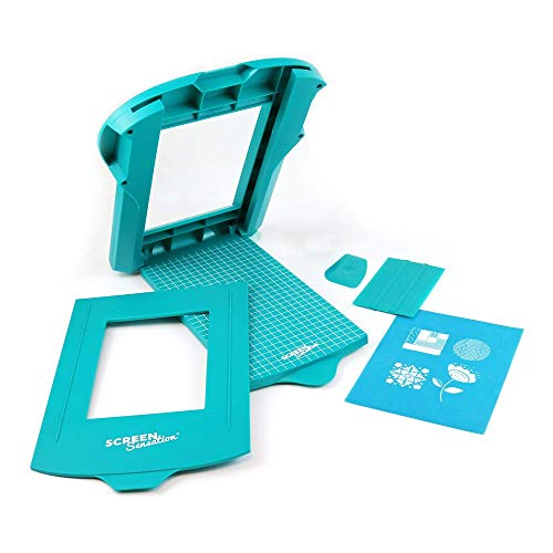 Screen Sensation Screen Printing Kit, Portable for use on All Surfaces - Create Desings on Fabric, Walls, Wood, Paper and More (5