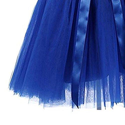 A Corta Variegati Giri Balletto Donne '50 Due Con Tutù Arco Ragazze Anni Per Scuro Stile Blu Fuweiencore Gonna In Tulle Colori qXaUFnxvw