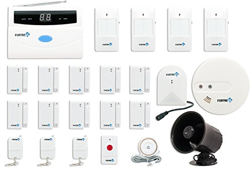 Fortress S02-F Wireless Home Security Alarm System Kit with Auto Dial, Outdoor Siren and Smoke Detector by Fortress Security Store