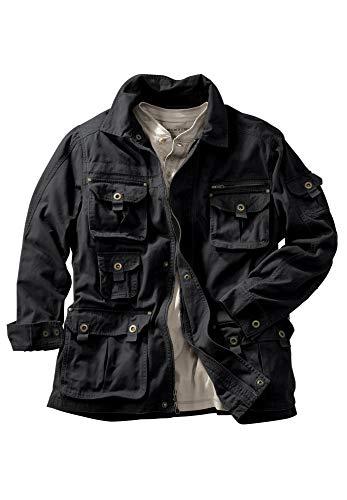 Boulder Creek Men's Big & Tall Multi-Pocket Twill Jacket, Black Big-4XL ()