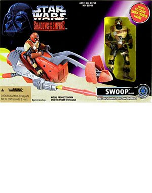 Star Wars Shadows of the Empire Swoop Vehicle with Swoop Trooper Action Figure by Kenner (Kenner Action Figures compare prices)
