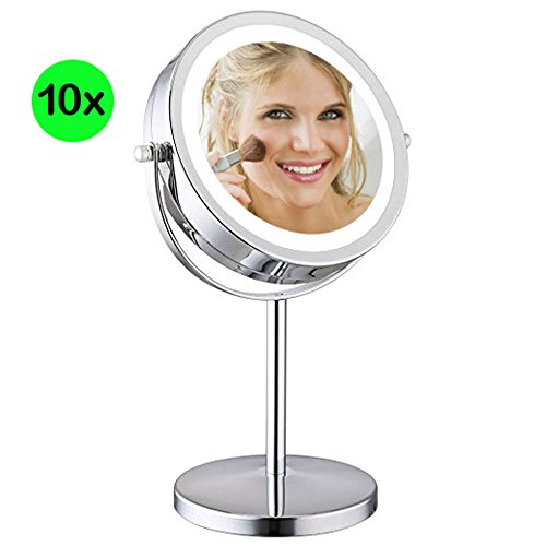 Best Vanity Makeup Mirror with LED lights by AMZNEVO - Night