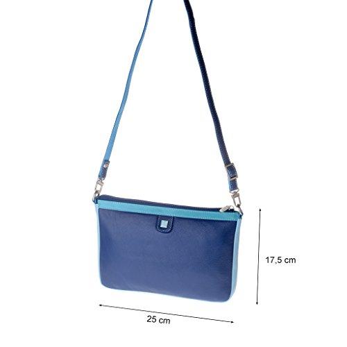 Bolso a multicolor DUDU rectangular bandolera Azul mujer piel en de r4wAqrRxO