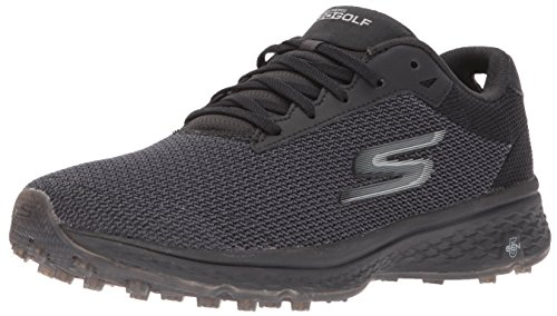 Skechers Golf Men's Go Golf Fairway Golf Shoe, Black Mesh, 10 M US